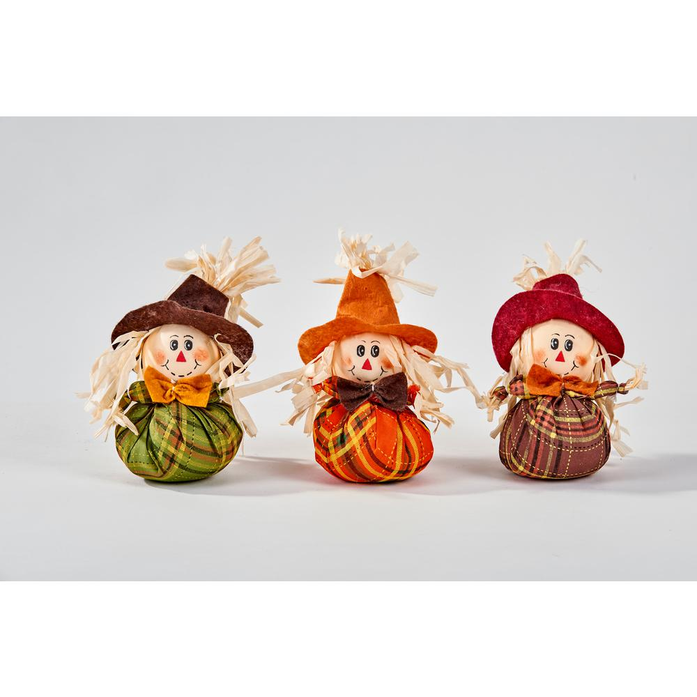 6 in. Mini Table Scarecrow (Set of 6)