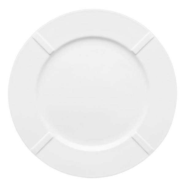 Kosta Boda Bruk B1 White China Plate (Set of 4)