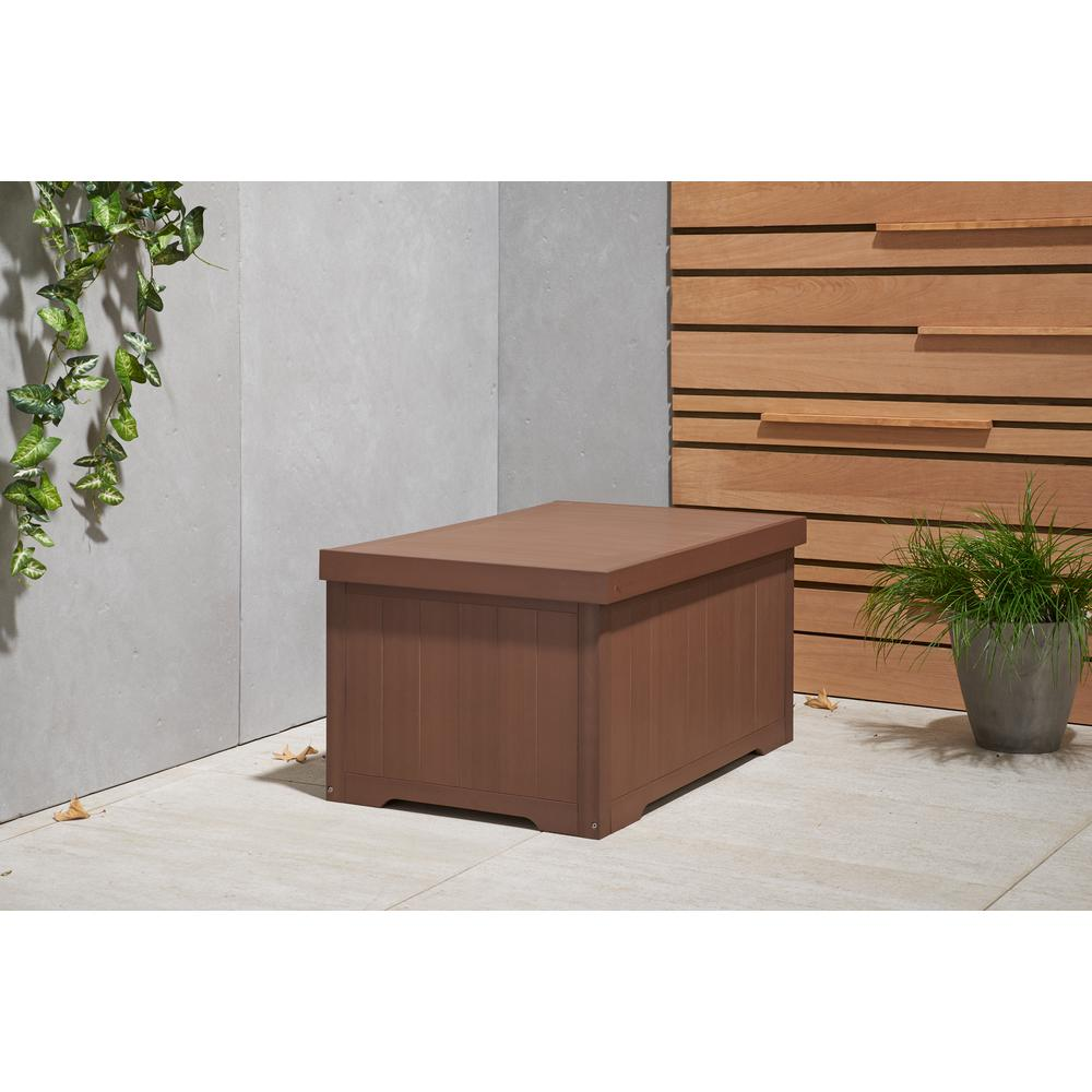 70 Gal. Polystyrene Deck Box Amber Brown