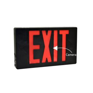 Exit Sign with Hidden Camera