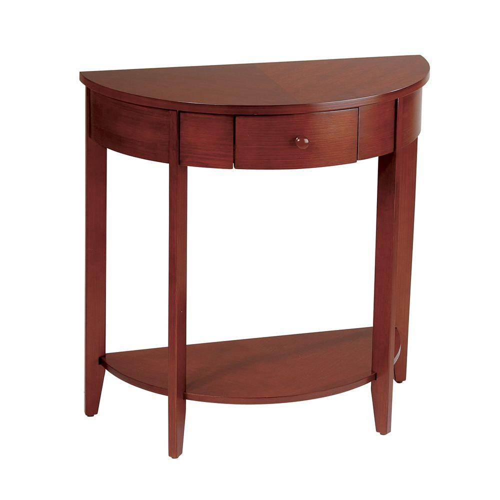 OSPdesigns 31 in. Walnut Hall Console Table-DISCONTINUED