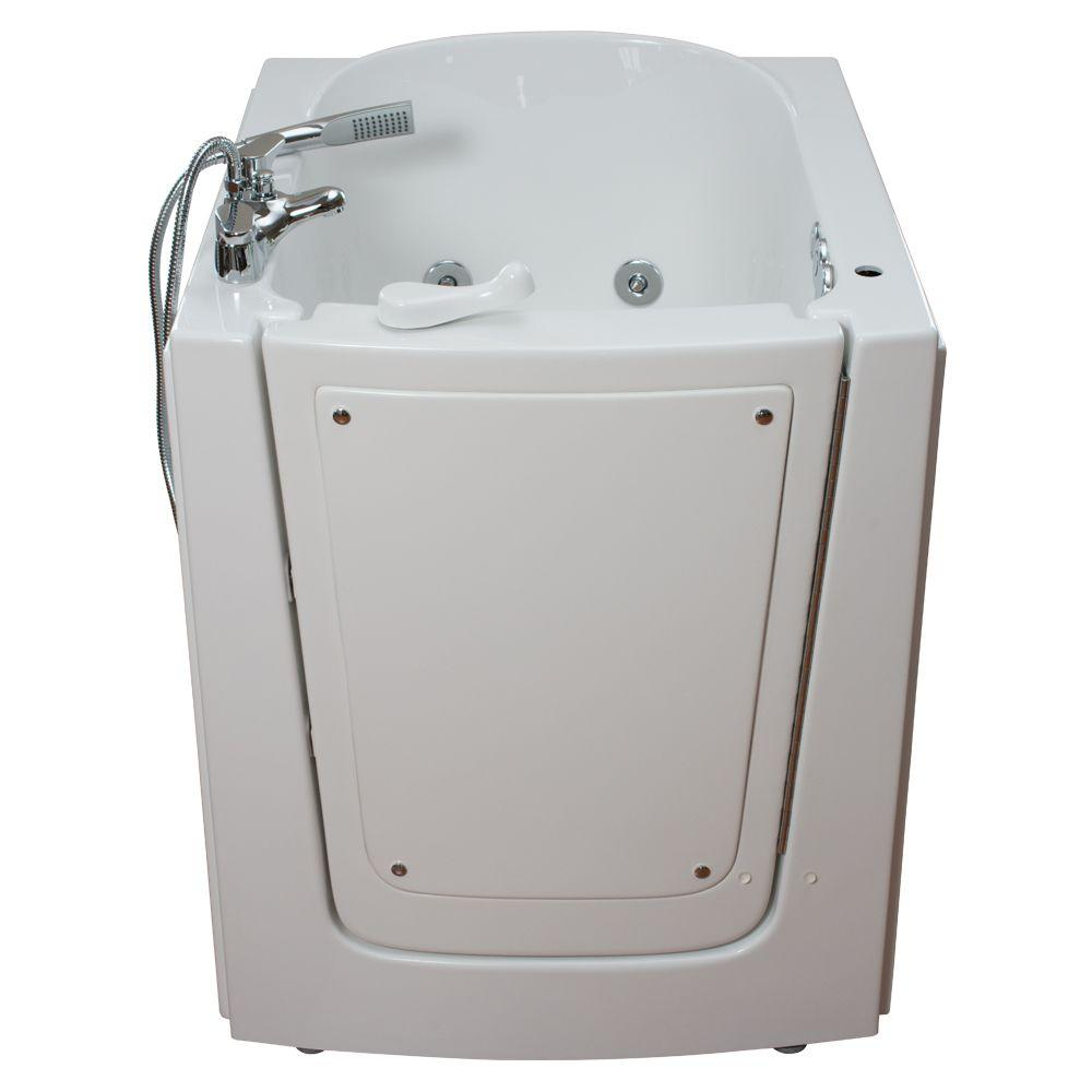 Ella Front Entry 2.75 ft. x 38 in. Walk-In Air and Hydrotherapy Massage Bathtub in White with Right Hinge Outswing Door