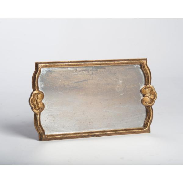 Abigails Gold Antiqued Mirror Wood Decorative Tray 524848