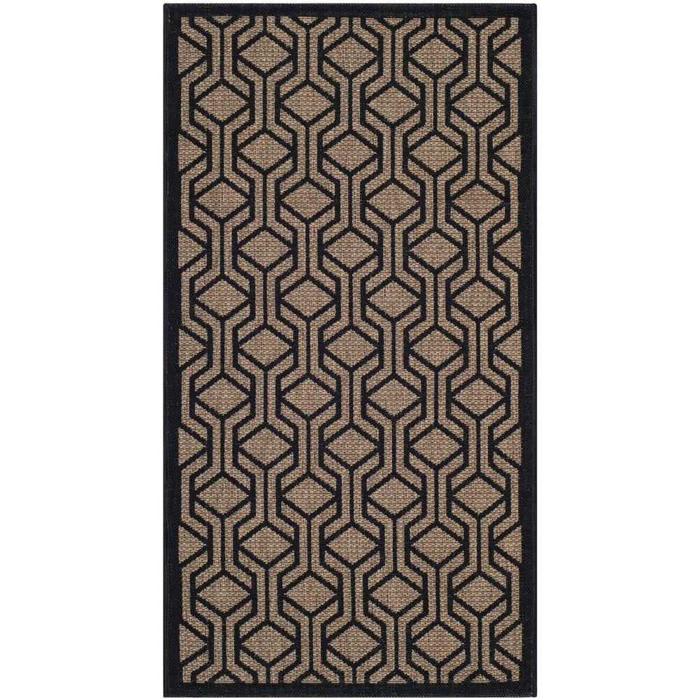 home depot outdoor rugs safavieh courtyard brown black 2 ft 7 in x 5 ft indoor 28790