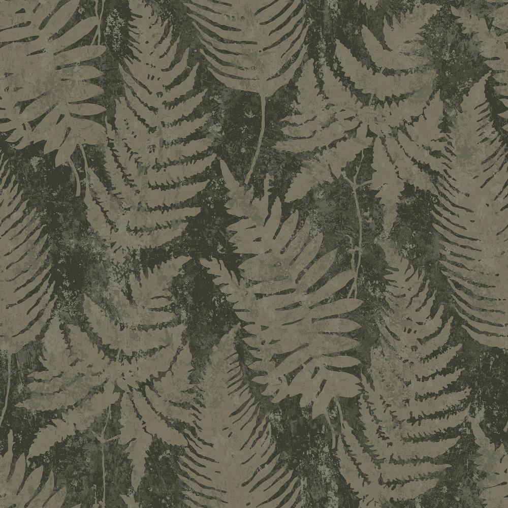 8 in. x 10 in. Whistler Moss Leaf Wallpaper Sample