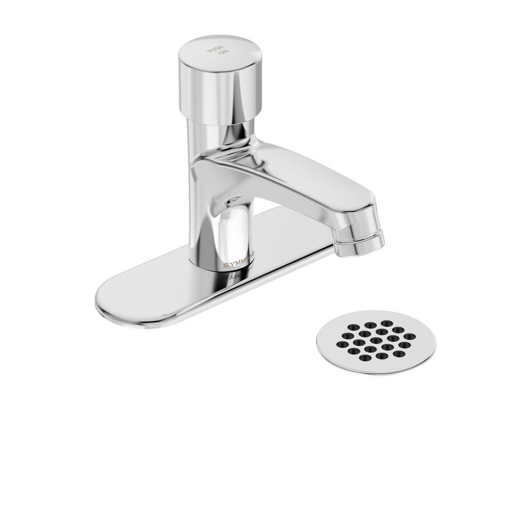 Symmons Scot Single Hole Single-Handle Metering Bathroom Faucet with ...