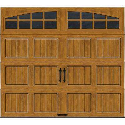 Gallery Collection 8 ft. x 7 ft. 6.5 R-Value Insulated Ultra-Grain Medium Garage Door with Arch Window