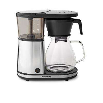 8-Cup Glass Carafe Coffee Brewer with Hot Plate