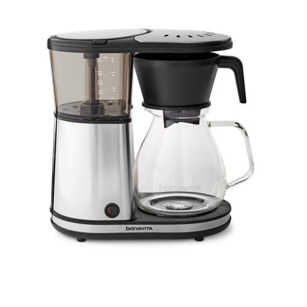 Bonavita 8-Cup Stainless Drip Coffee Maker with Glass Carafe BV1901GW