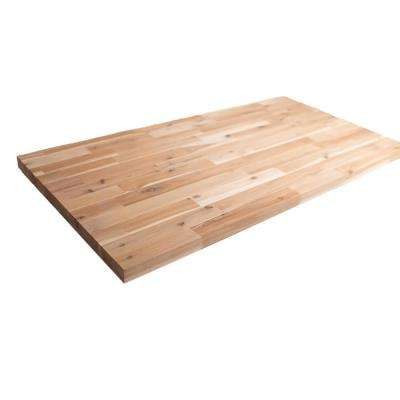 8 ft. 2 in. L x 2 ft. 1 in. D x 1.5 in. T Butcher Block Countertop in Unfinished Acacia