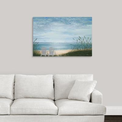 """Beach Chairs"" by Bruce Nawrocke Canvas Wall Art"