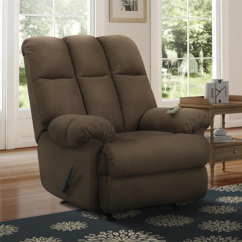 Dorel Living Padded Chocolate Massage Chair Recliner FA-3MC