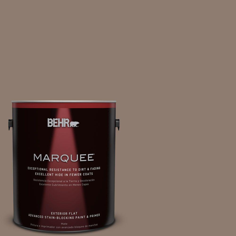 BEHR MARQUEE 1-gal. #N180-5 Bridle Leather Flat Exterior Paint