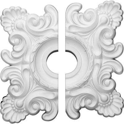 18 in. W x 18 in. H x 1-1/2 in. P Crawley Ceiling Medallion (2-Piece)
