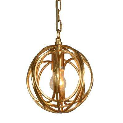 1-Light Gold Chandelier