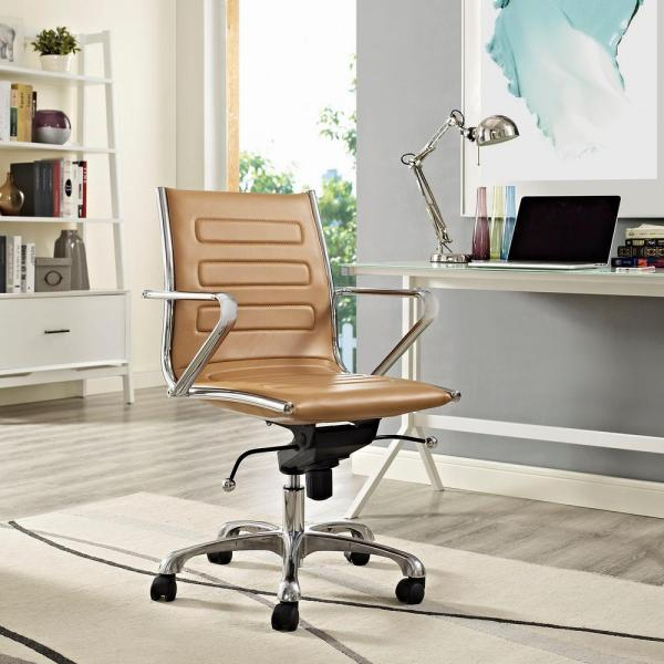 MODWAY Ascend Mid Back Office Chair in Tan EEI-2214-TAN
