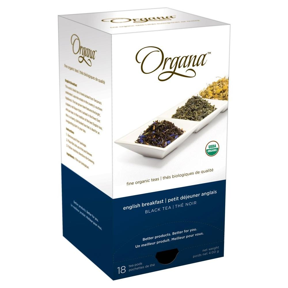 Organa English Breakfast Tea Pods, 18-count-DISCONTINUED
