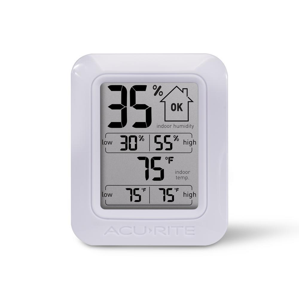 Mini Round Indoor home Hygrometer Humidity Thermometer Temp Temperature Meter