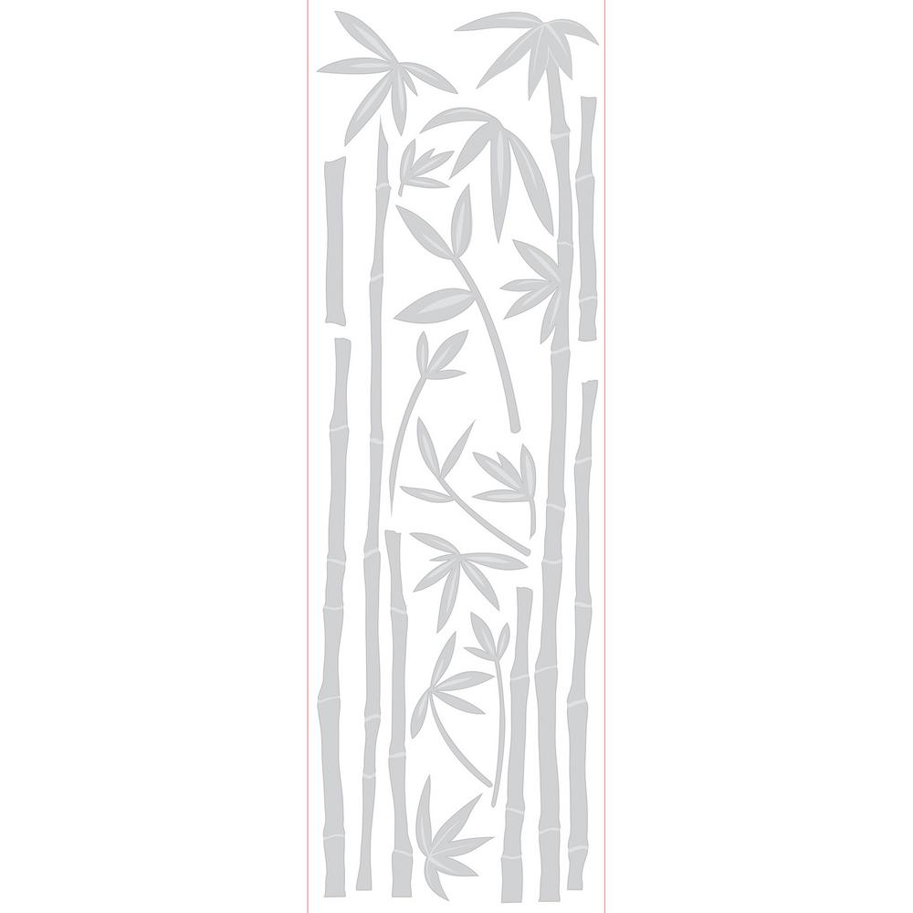 78.74 in. x 17.7 in. Bamboo Etched Glass Windows Film