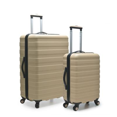 Cypress Colorful 2-Piece Sand Small and Large Hardside Spinner Luggage Set