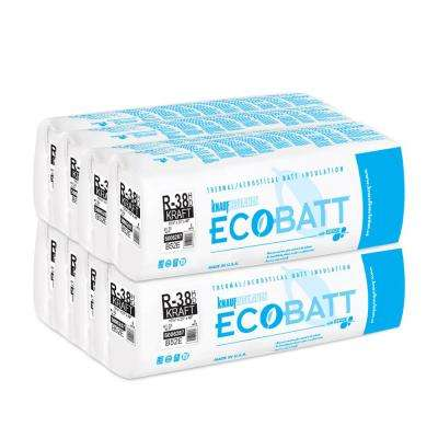 R-38 EcoBatt Kraft-Faced High Density Fiberglass Insulation Batt 10-1/4 in. x 23 in. x 48 in. (8-Bags)