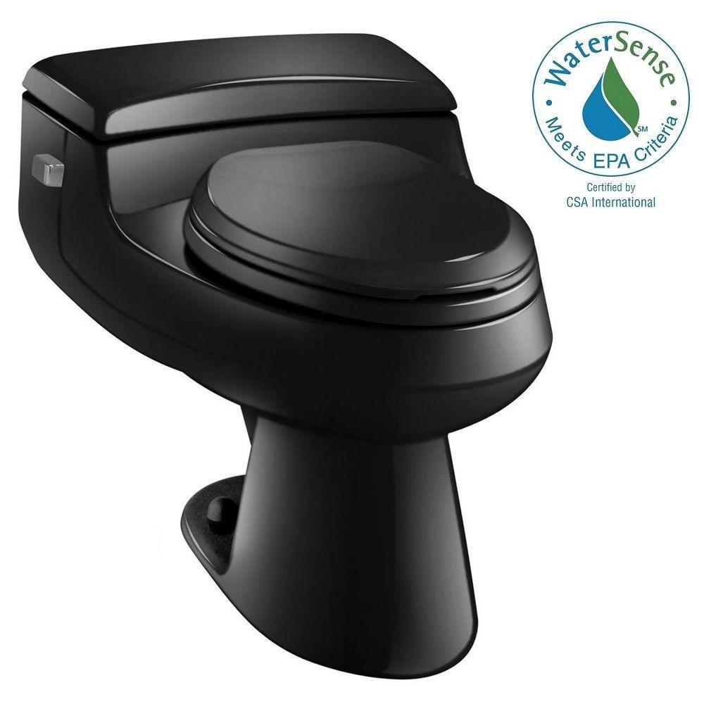San Raphael Comfort Height 1-piece 1 GPF Single Flush Elongated Toilet in Black