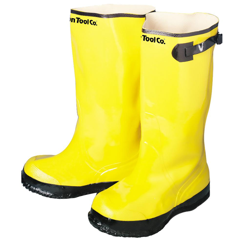 f5a37300c3af8 Bon Tool Contractor's Size 13 Yellow Overshoe Boots-14-724 - The ...
