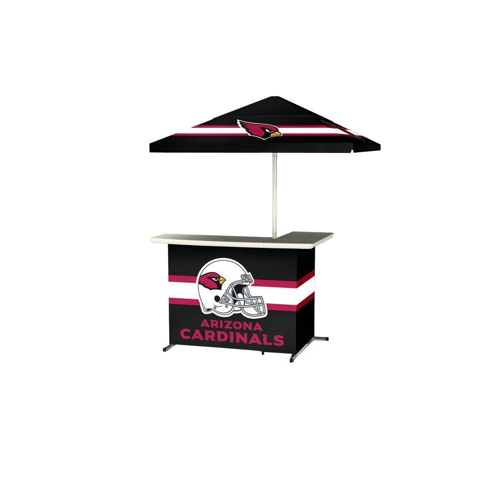 Best of Times Arizona Cardinals All-Weather L-Shaped Patio Bar with 6 ft. Umbrella