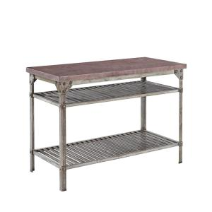 Internet #205887326. Home Styles Urban Style Aged Rust Kitchen Utility Table  ...