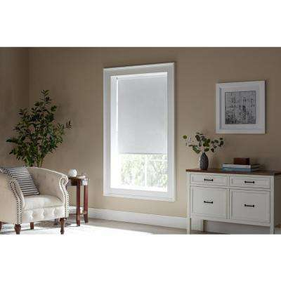 Cut-to-Size White Cordless Room Darkening Vinyl Roller Shades 37 in. W x 78 in. L