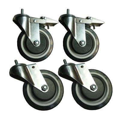 5 in. Industrial Caster (4-Pack)