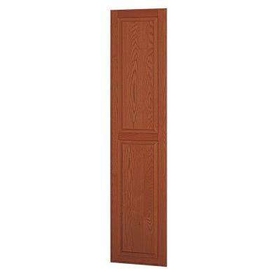 Solid Oak Side Panel for 18 in. D Executive Wood Locker in Medium Oak