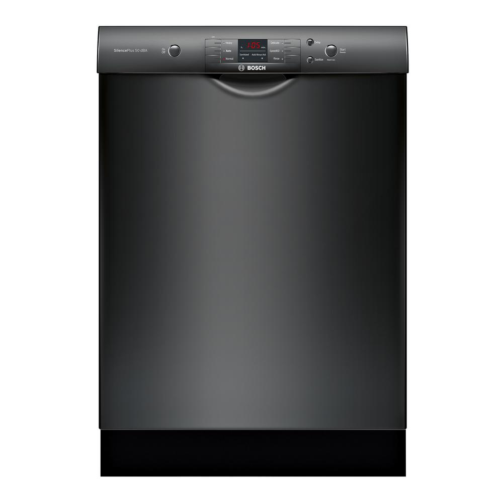 100 Series Front Control Tall Tub Dishwasher in Black with Hybrid