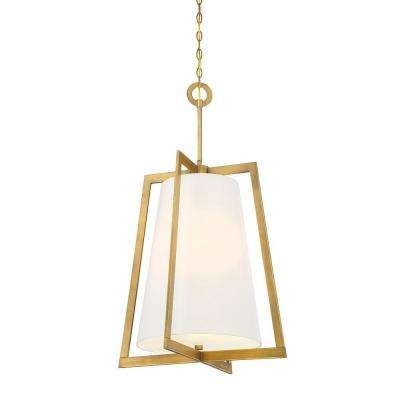 Hyde Park 4-Light Vintage Gold Interior Incandescent Hall and Foyer