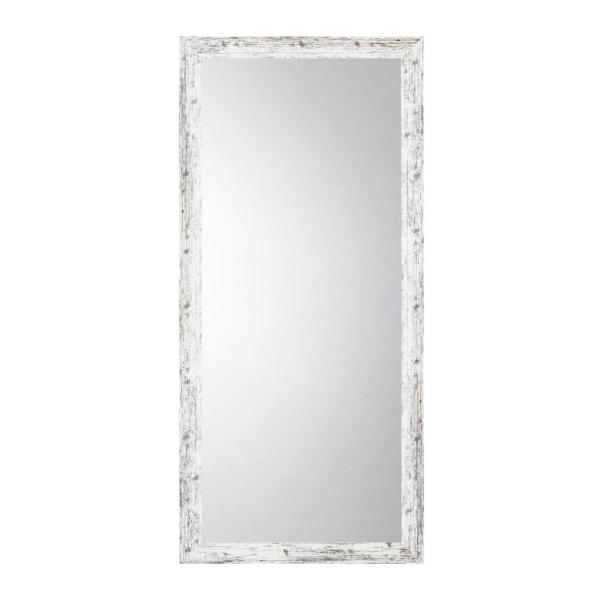 Oversized White And Gray Composite Rustic Mirror 66 In H X 31 In W Vv093 25 60 The Home Depot
