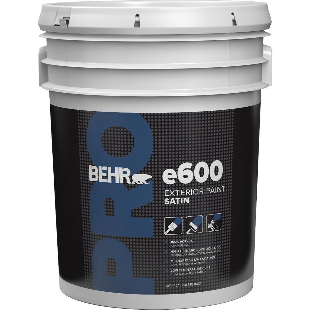 5 gal. e600 White Satin Enamel Exterior Paint