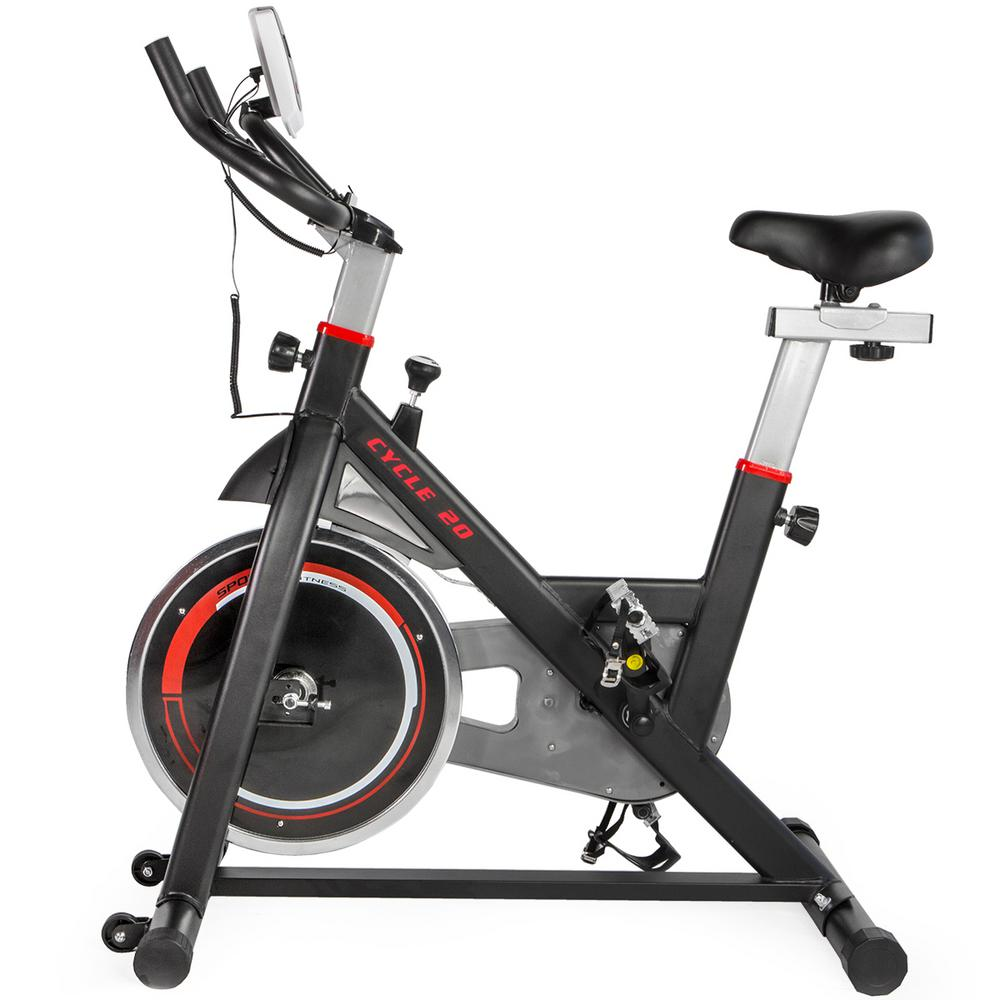 XtremepowerUS Xtreme Spin Cycle 20 Stationary Fitness Exercise Bike Bicycle Indoor in Red