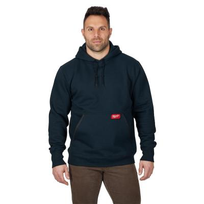 Men's 3XL Blue Heavy Duty Cotton/Polyester Long-Sleeve Pullover Hoodie