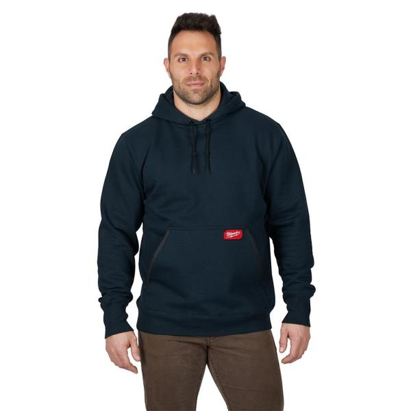Men's Extra Large Blue Heavy Duty Cotton/Polyester Long-Sleeve Pullover Hoodie