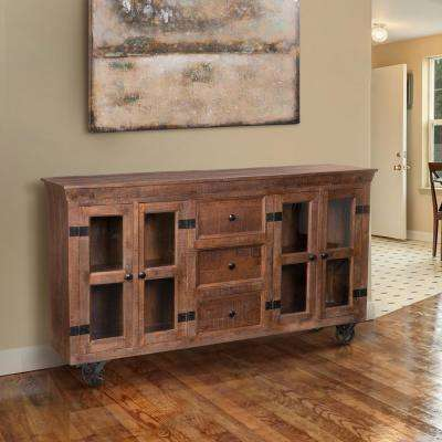 Warm Natural Storage Cabinet