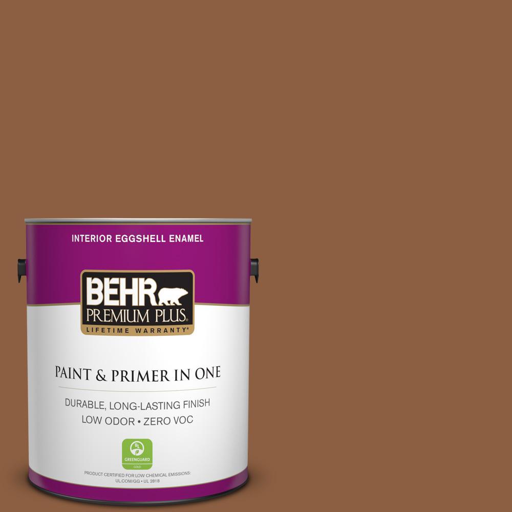 1-gal. #260F-7 Caramel Latte Zero VOC Eggshell Enamel Interior Paint