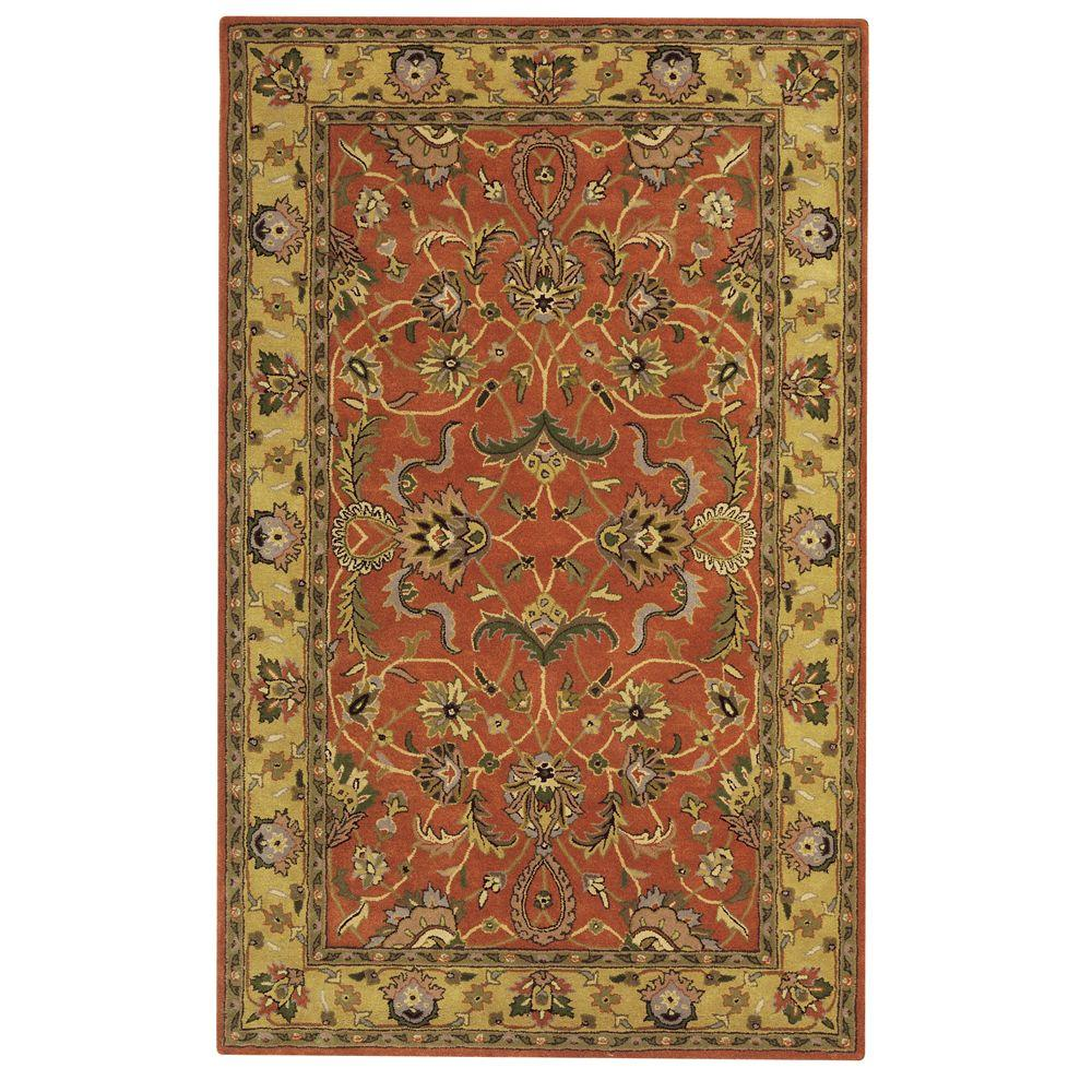 Home Decorators Collection Constantine Rust 5 ft. x 8 ft. Area Rug