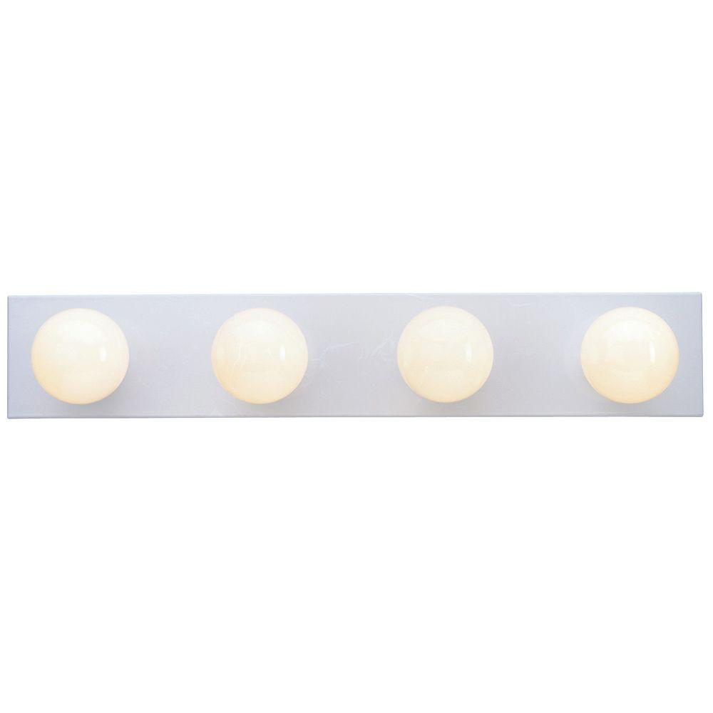 Westinghouse 4-Light White Interior Bath Bar Light-6659500 - The Home Depot  sc 1 st  The Home Depot & Westinghouse 4-Light White Interior Bath Bar Light-6659500 - The ... azcodes.com