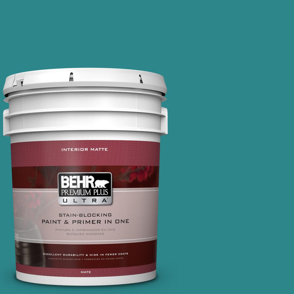 5 gal. #M460-6 Thai Teal Matte Interior Paint