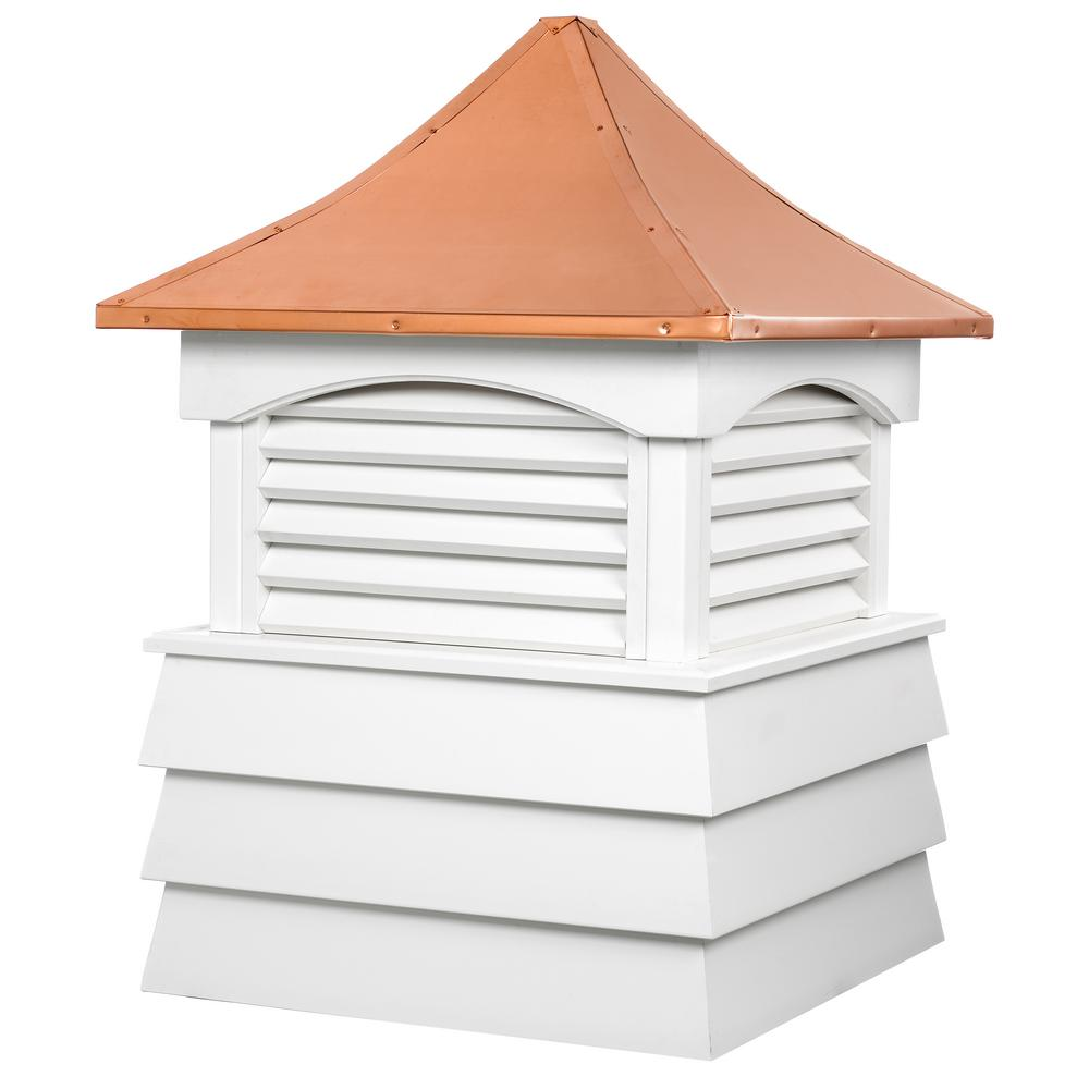 Sherwood 30 in. x 46 in. Vinyl Cupola with Copper Roof