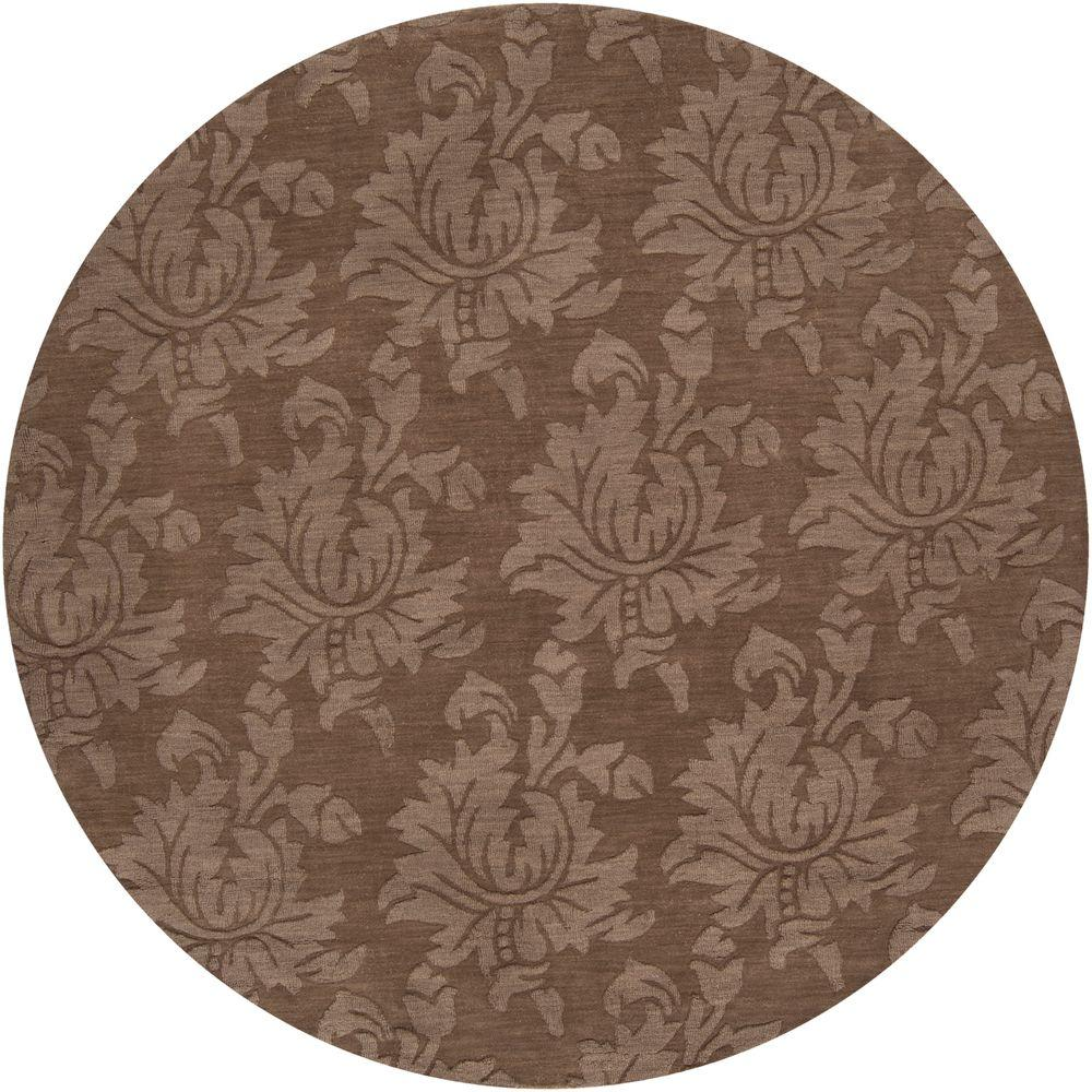 Home Decorators Collection Sofia Brown 8 Ft Round Area Rug Sop7000 8rd The Home Depot
