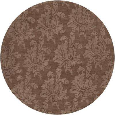 Sofia Brown 8 ft. Round Area Rug