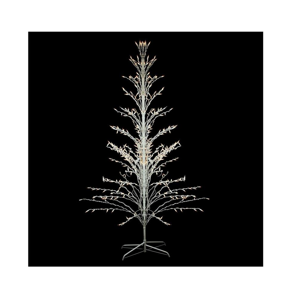 White 4 Foot Christmas Tree: Northlight 4 Ft. White Lighted Christmas Cascade Twig Tree