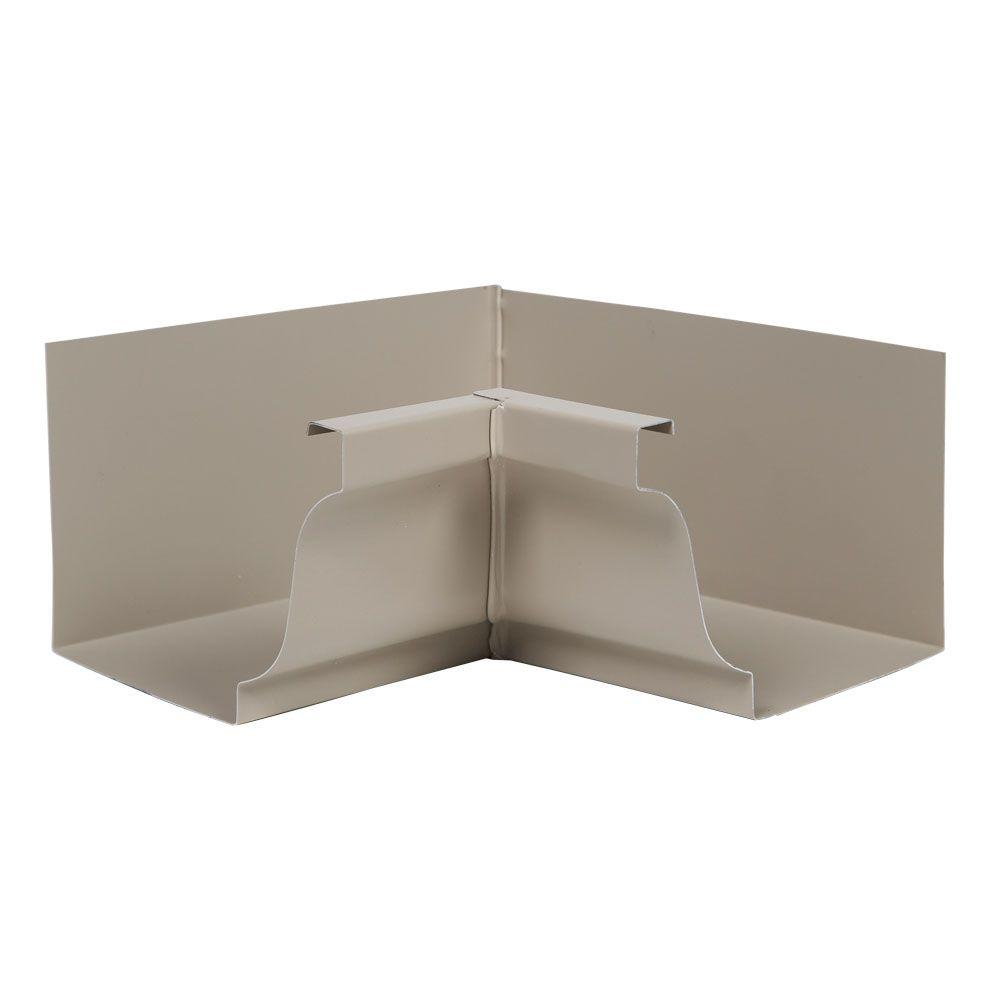 5 in. Natural Clay Aluminum Inside Gutter Mitre