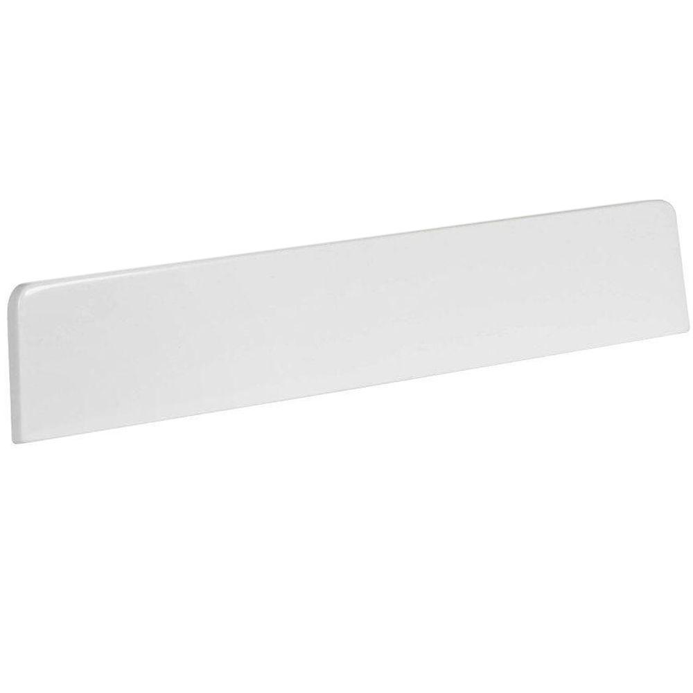 Newport 18 in. Cultured Marble Lite Sidesplash in White
